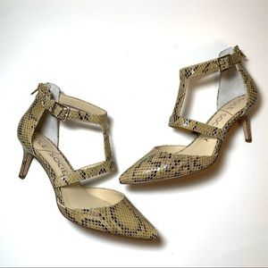 New Sole Society Snake Ankle-Strap Pump Edelyn 7.5